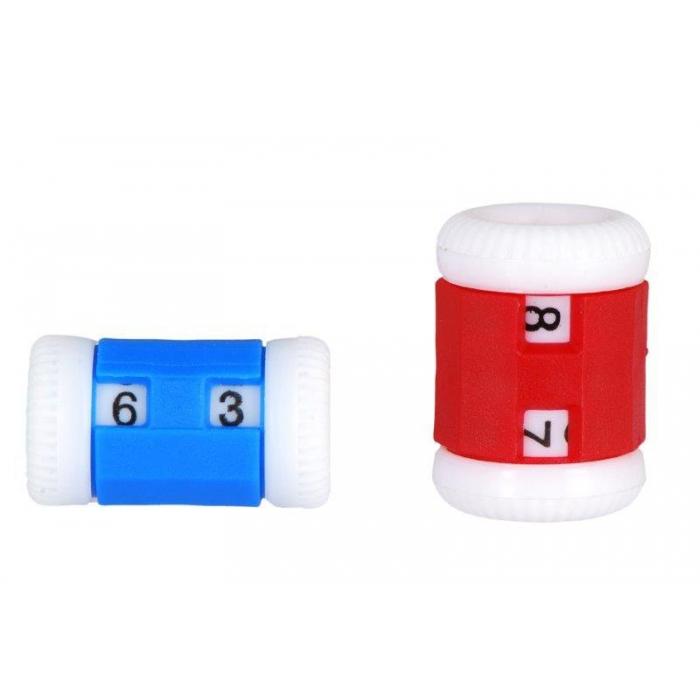 10816 Knit Pro Счетчик рядов (маленький 2-5мм, большой 4,5-6,5мм), пластик, синий/красный, 2шт