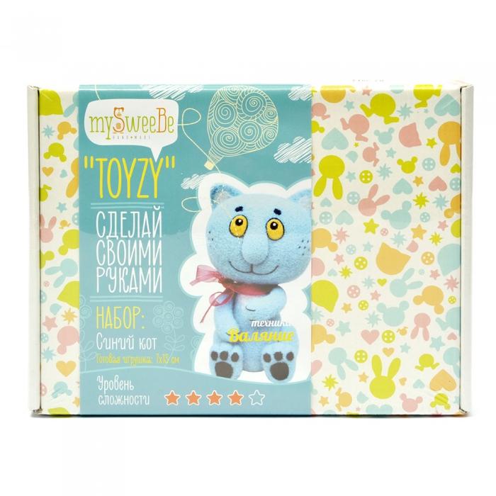 Набор для изготовления текстильной игрушки Toyzy арт.TZ-F004_2 Синий кот Валяние