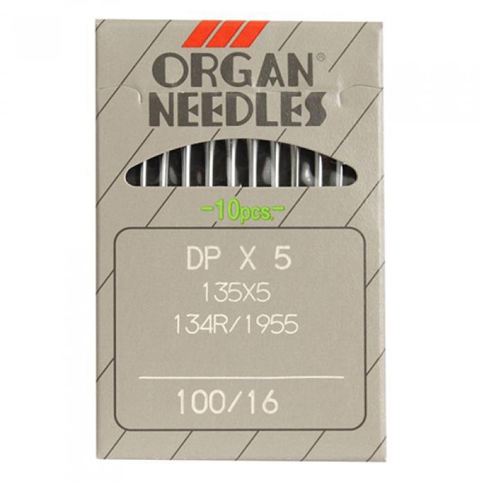 Иглы ORGAN арт.DPx5 № 100 для прямострочных ПШМ уп.10 игл