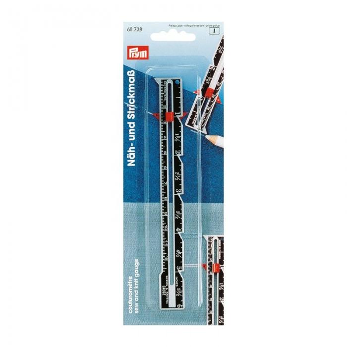 611738 PRYM Линейка д/шитья и вязания с сантиметровой шкалой длина 12,5см уп.1шт