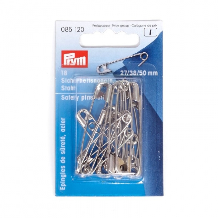 85120 PRYM Булавки английские 0-3 сталь, цв. серебристый