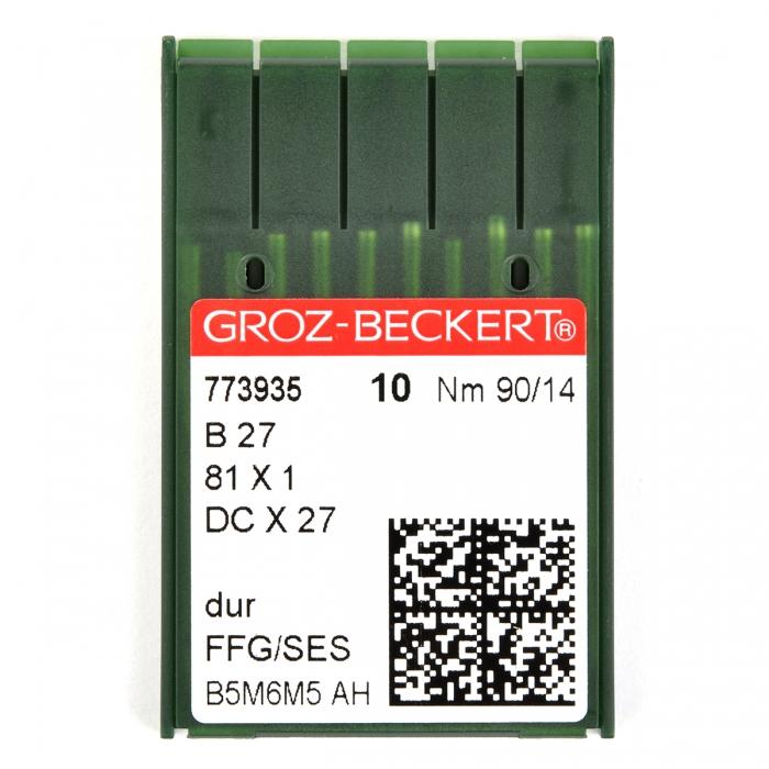 773935 Groz-Beckert Игла для ПШМ B27/81x1/DCx27/DCx1 FFG №90 уп.10 игл