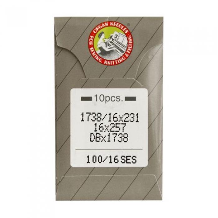 Иглы ORGAN арт.DBx1 № 100 SES для прямострочных ПШМ уп.10 игл