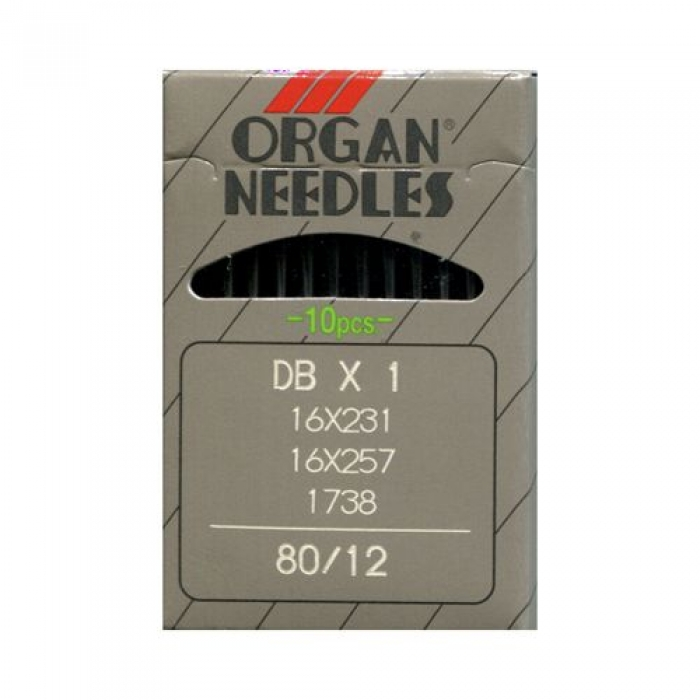 Иглы ORGAN арт.DBx1 № 80 для прямострочных ПШМ уп.10 игл