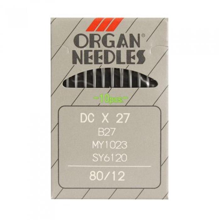 Иглы ORGAN арт.DCx27 № 80 для оверлочных ПШМ уп.10 игл