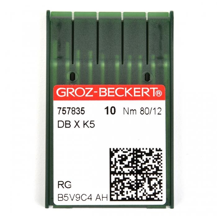 757835 Groz-Beckert Игла для ПШМ DBxK5 R №80 уп.10 игл
