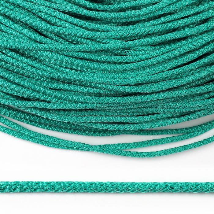 Шнур круглый полипропилен 04мм цв.зеленый уп.100м