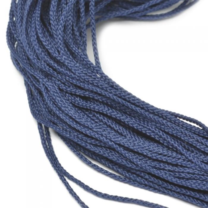 Шнур для мокасин, 1с-16, 1.5мм, цв. синий
