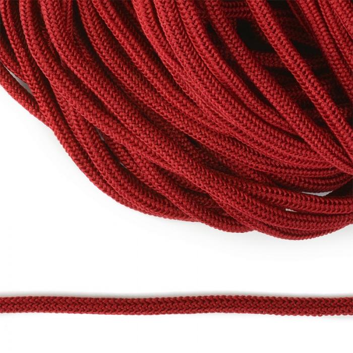 Шнур круглый полиэфир 04мм арт. 1с-36 цв.065 красный уп.200м