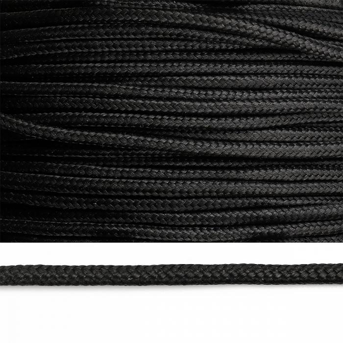 Веревка полипропилен 08мм цв.черный уп.200м