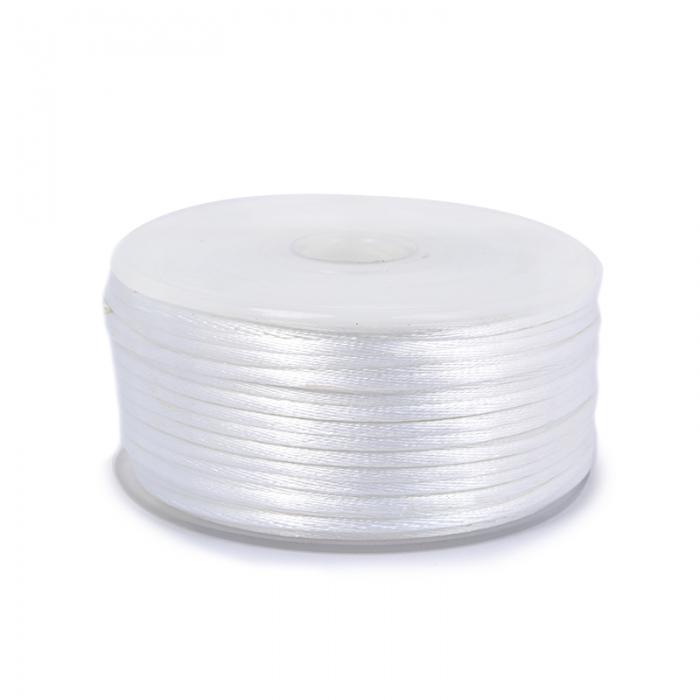 Шнур TBY атласный круглый 2мм цв.3001 кипенно-белый уп.50м