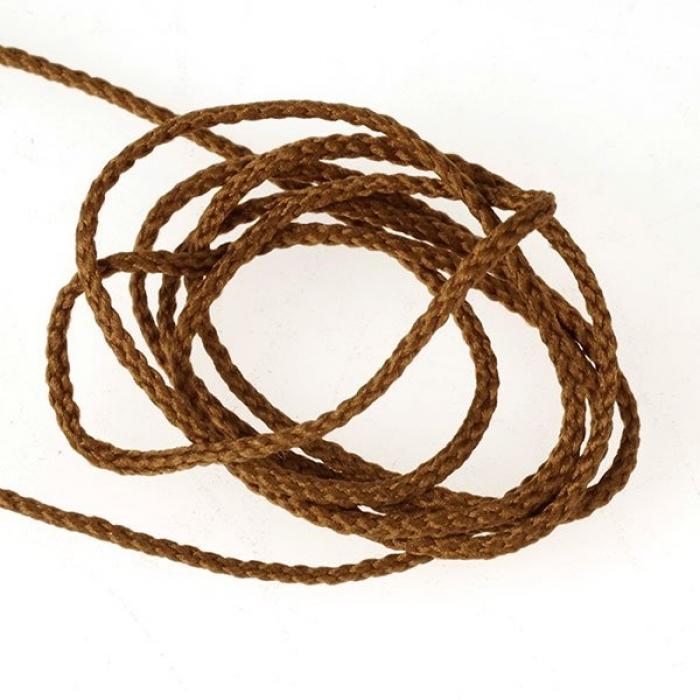 Шнур для мокасин, 1с-16, 1.5мм, цв. т.бежевый