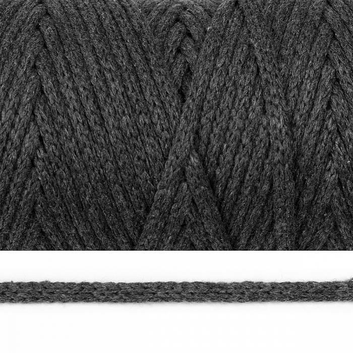 Шнур круглый х/б 04мм цв.2203 т.серый уп.100м