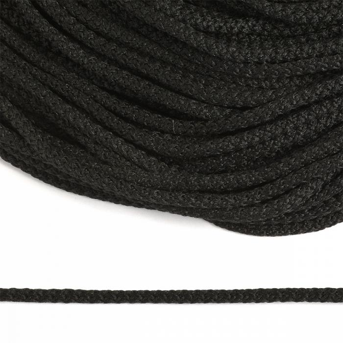Шнур круглый полиэфир 03мм арт.1с-31 с наполнителем цв.325 черный уп.200м