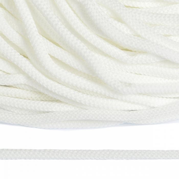 Шнур круглый полиэфир 04мм арт. 1с-36 цв.001 белый уп.200м
