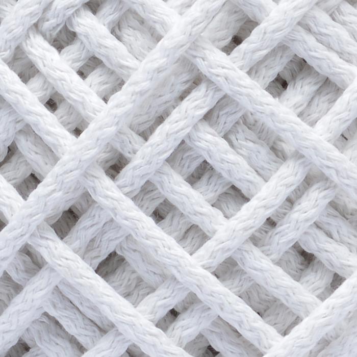 Шнур для макраме круглый х/б 06мм 60184/200 цв.2 белый уп.200м