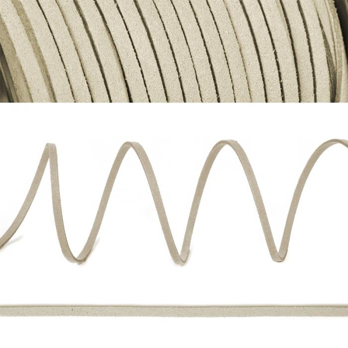 Шнур/тесьма (иск.замша) TBY.SLR102 2-3мм цв.молочный F102 уп.50м