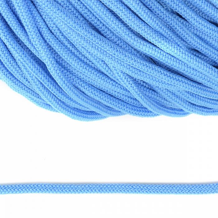 Шнур круглый полиэфир 04мм арт. 1с-36 цв.043 голубой уп.200м