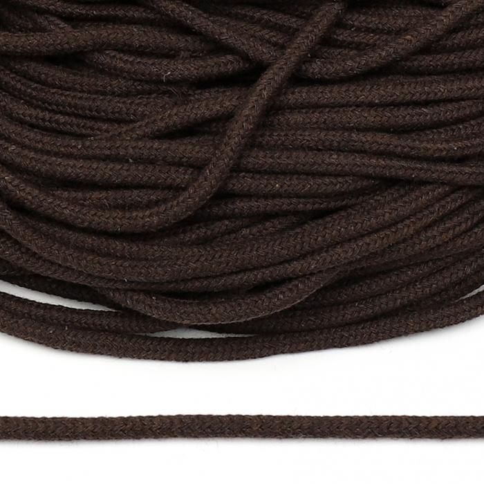 Шнур круглый х/б 05мм с наполнителем TW цв.016 коричневый уп.100 м