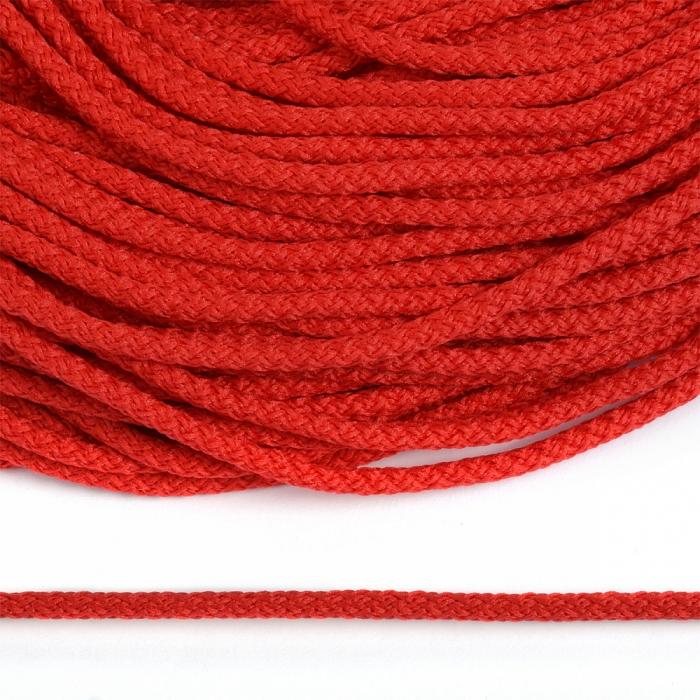 Шнур круглый полиэфир 03мм арт.1с-31 с наполнителем цв.045 красный уп.200м