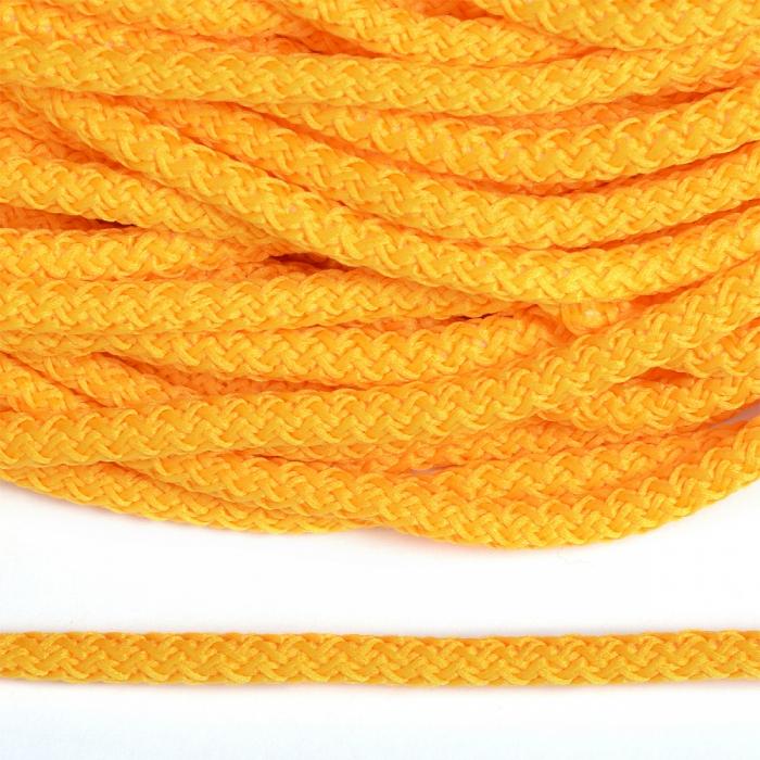 Шнур круглый полиэфир 05мм арт.1с-50/35 с наполнителем цв.009 желтый уп.200м