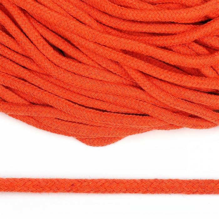 Шнур круглый х/б 05мм с наполнителем TW цв.008 оранжевый уп.100м