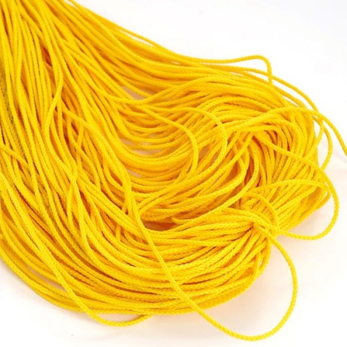 Шнур для мокасин, 1с-16, 1.5мм, цв. желтый