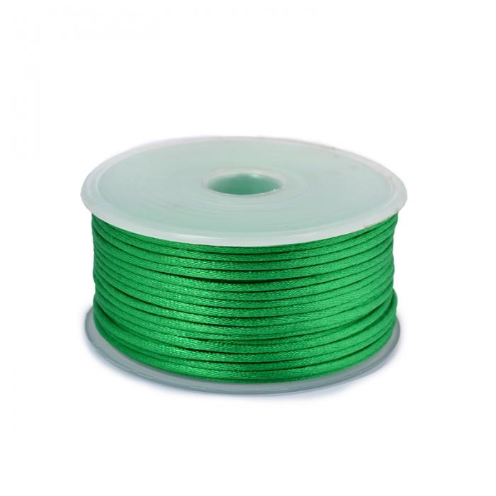 Шнур TBY атласный круглый 2мм цв.3042 зеленый уп.50м