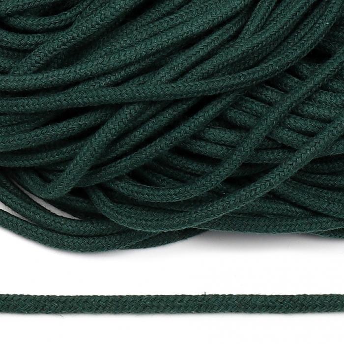 Шнур круглый х/б 05мм с наполнителем TW цв.019 т.зеленый уп.100 м