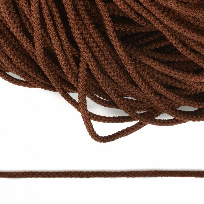 Шнур круглый полиэфир 03мм арт.1с-31 с наполнителем цв.072 коричневый уп.200м