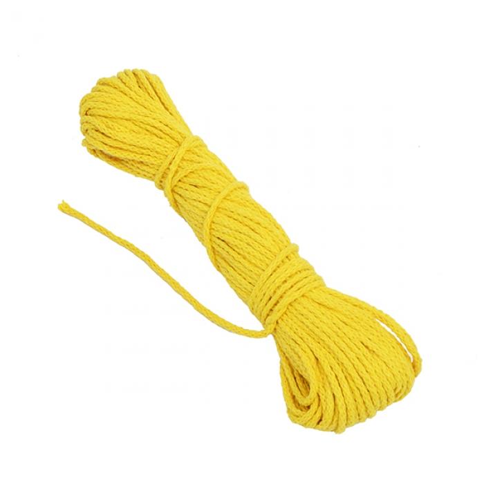 Шнур круглый х/б 03мм С3098г17 рис.7092ц цв.желтый уп.2х20м