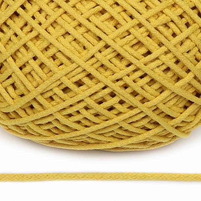 Шнур для макраме круглый х/б 06мм 60184/200 цв.желтый уп.200м