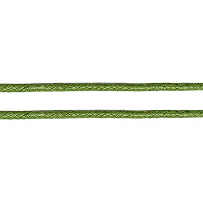 Шнур вощеный 2мм, 100% хлопок цв. 262 т.зеленый уп.100м
