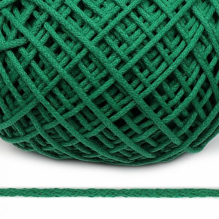 Шнур для макраме круглый х/б 06мм 60184/200 цв.зеленый уп.200м