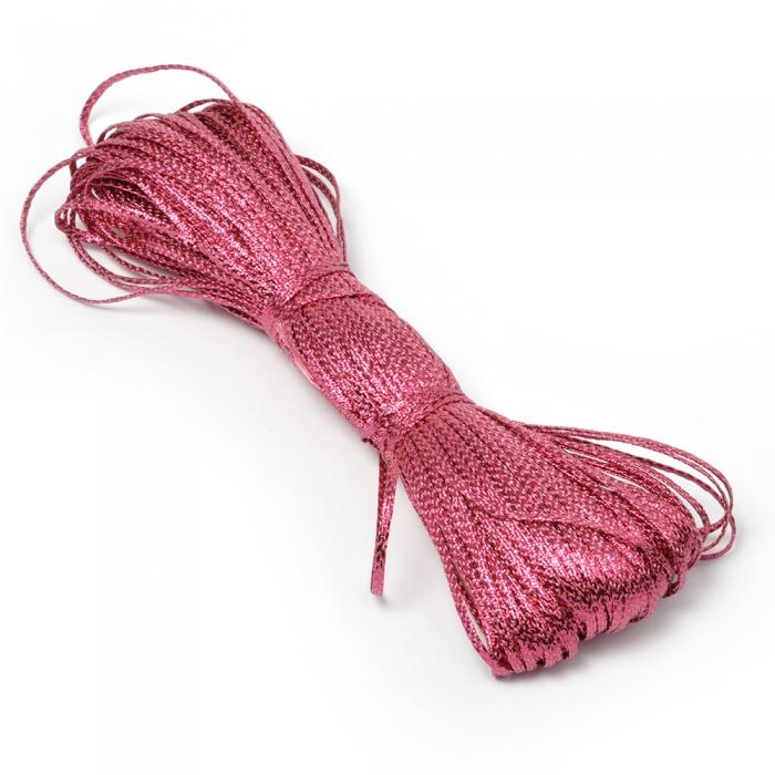 Шнур отделочный декоративный арт. С3027Г17 2-3мм рис.8590 цв.13 малина уп.50м