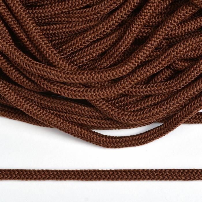 Шнур круглый полиэфир 04мм арт. 1с-36 цв.072 коричневый уп.200м