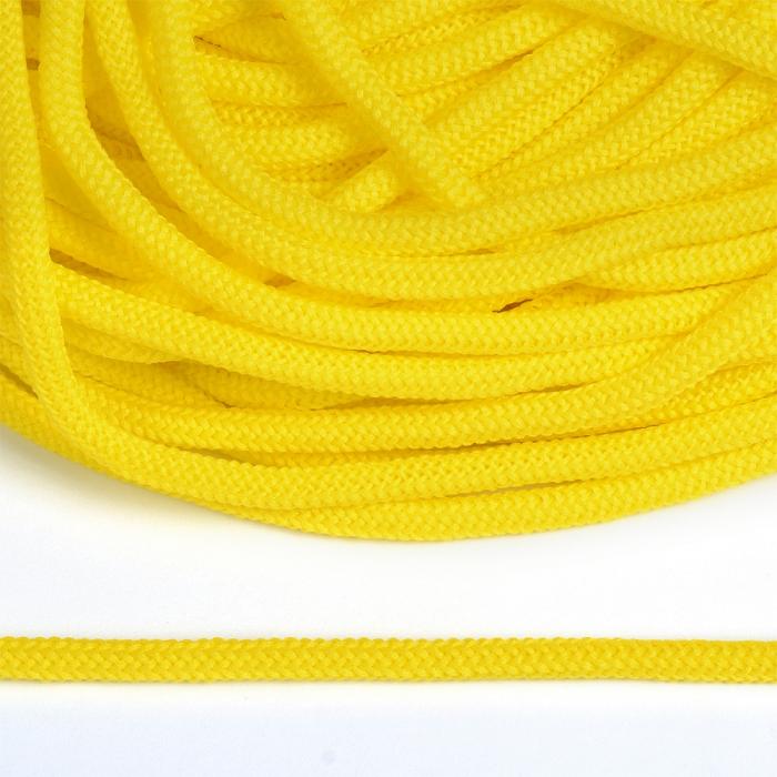 Шнур круглый полиэфир 04мм арт. 1с-36 цв.050 лимон уп.200м