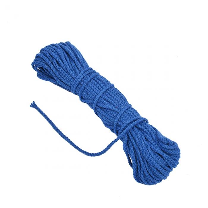 Шнур круглый х/б 03мм С3098г17 рис.7092ц цв.синий уп.2х20м