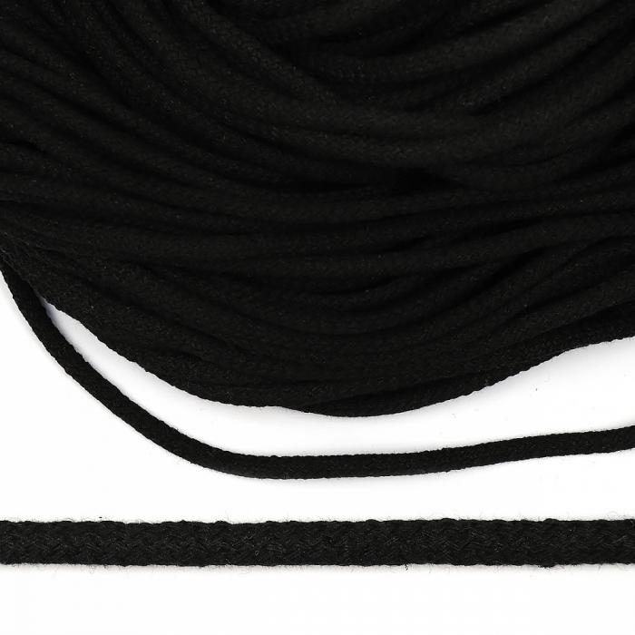 Шнур круглый х/б 05мм с наполнителем цв.032 черный уп.100 м