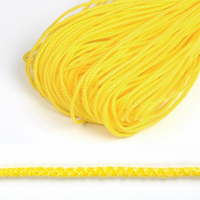 Шнур круглый полипропилен 03мм цв.желтый уп.100м