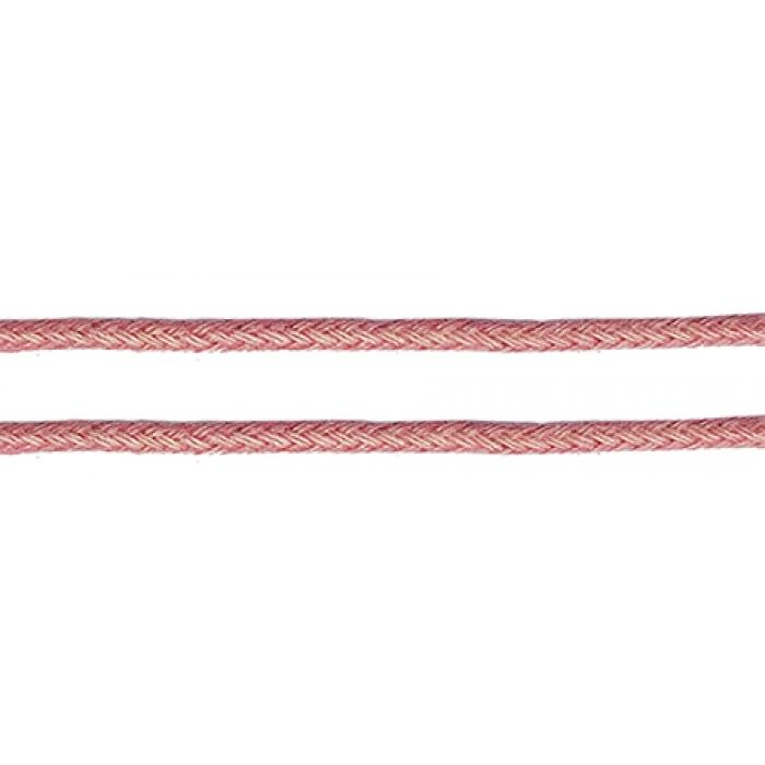 Шнур вощеный 1мм, 100% хлопок цв. 172 розовый уп.100м