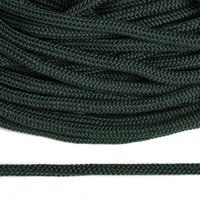 Шнур круглый полиэфир 04мм арт. 1с-36 цв.079 т.зеленый уп.200м