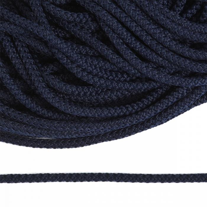 Шнур круглый полиэфир 03мм арт.1с-31 с наполнителем цв.075 синий уп.200м