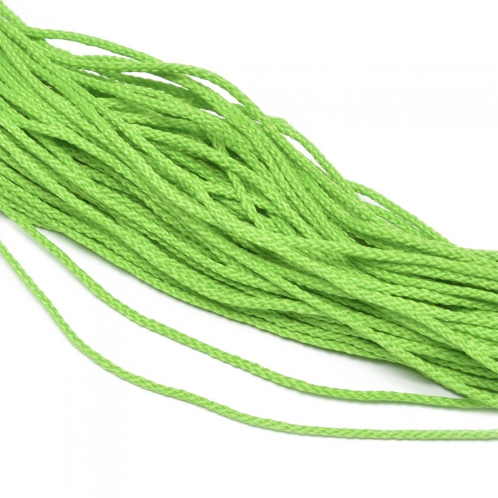 Шнур для мокасин, 1с-16, 1.5мм, цв. ярк.салатовый