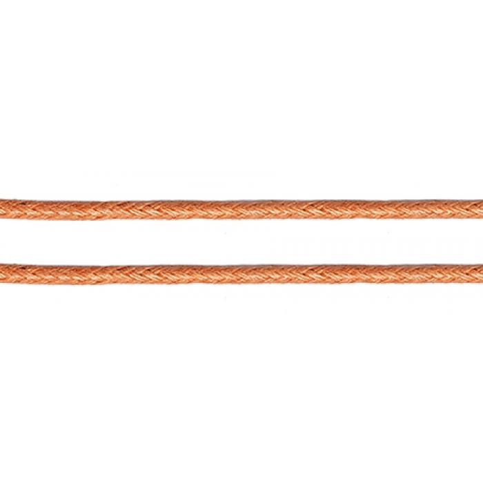 Шнур вощеный 2мм, 100% хлопок цв. 155 т.розовый уп.100м