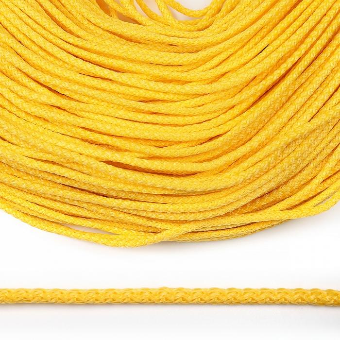 Шнур круглый полипропилен 04мм цв.желтый уп.100м