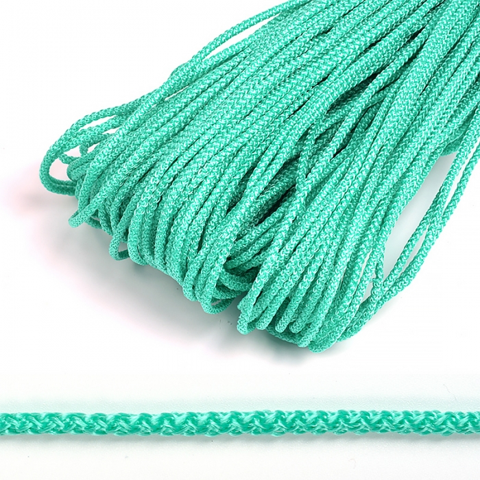 Шнур круглый полипропилен 03мм цв.зеленый уп.100м