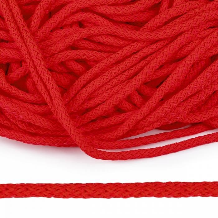 Шнур полипропилен пп6 для люверсов пикколо 6мм цв.красный уп.100м