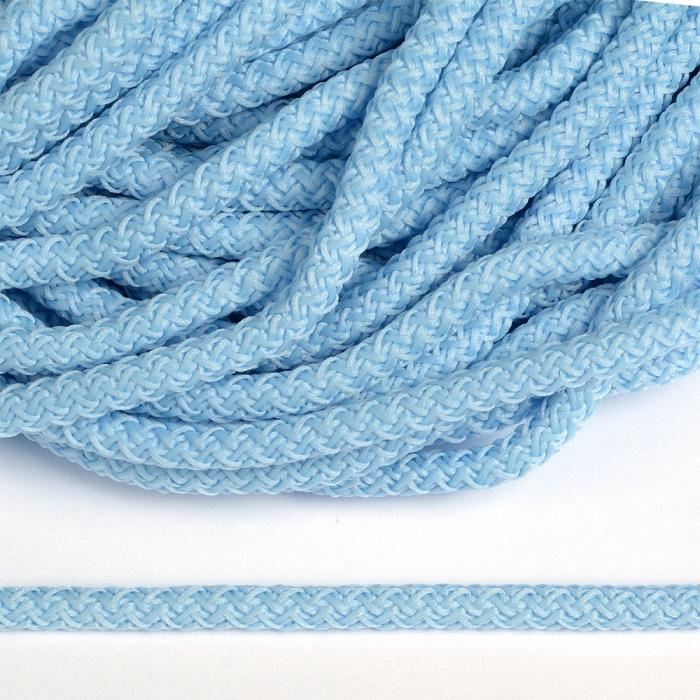 Шнур круглый полиэфир 05мм арт.1с-50/35 с наполнителем цв.004 голубой уп.200м