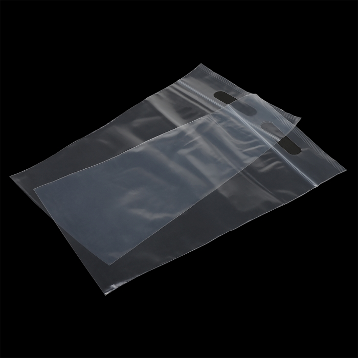 Пакет упак. полиэтиленовый с замком zip lock (зип лок) с вырубной ручкой 80 мкм 20х30см цв.прозрачный уп.100шт